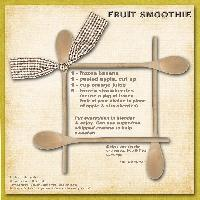 Becky's Fruit Smoothie Recipe