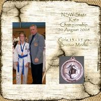 My princess' first karate medal