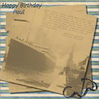 Titanic Birthday Wishes