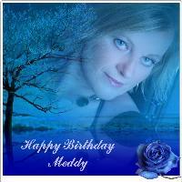 Birthday In Blue For Meddy