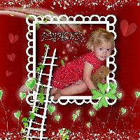 Red Background White Frame( Meggy)