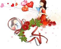 For White background and Red Ribbon