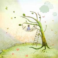Ladder and child