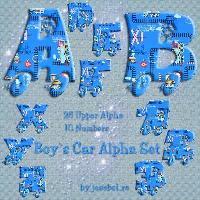 Boy`s Car Alpha Set