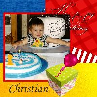Christian's 1st. Birthday
