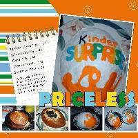 Kinder Surprise Birthday Cake