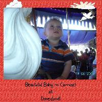 Beautiful baby at Disneyland