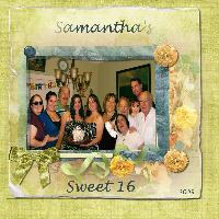 Samantha's 16th