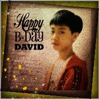 ~~ Happy Birthday David ~~