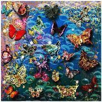 Butterflies in a Sea of Bubbles