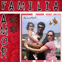 Sílvia e família