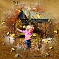 Fun in Autumn Leaves