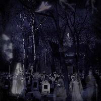 Fantasy ghosts - graveyard