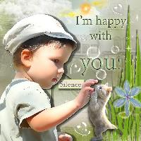 Im happy with you ......