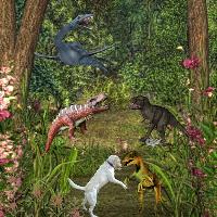 Cooper adventure - meeting dinosaurs