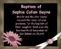 Invitation for Sophia