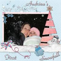 AUDRINA'S FIRST SNOWFALL