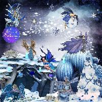 fairies on a christmas night