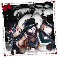 caroling snowmen