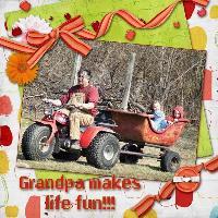 Grandpa makes life fun