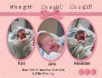 Karli Jane 10 minutes old