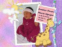 Amelia is born