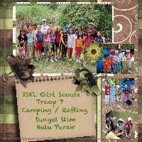 Girl Scout Camping Nov '09