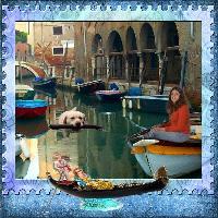 Cooper adventure - swimming in venice canals