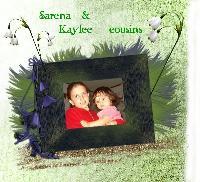 Sarena and cousin Kaylee