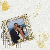 white with gold wedding page