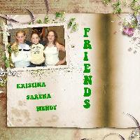 Sarena and school friends