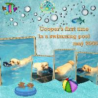 first time in swimming pool