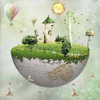 Floating world scene