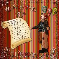 ScrapbookFlair  ~  Happy 4th Birthday!!