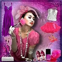 White Pink & Purple fashion 2