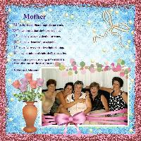 For Hilda - a mothers day page