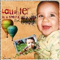 Laughter is a Smile...