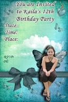 Kaila's 12th Birthday Invite