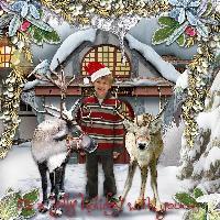 Stewart and Santa's Reindeer