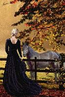 Woman with horses.....
