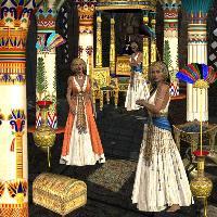 Inside an Egytian Temple