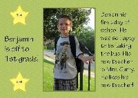 Benjamin 1st grade