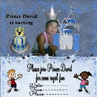 Prince david's 7th birthday invitation