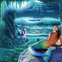 mermaid and fairy cave