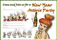 Asterix New Year Invitation