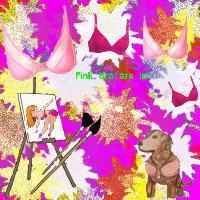 pink bra challange and my  background lol