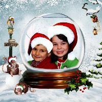 Colton & Brynn In A Snow Globe