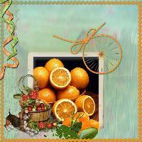 Oranges et pommes