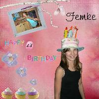femke's 13th birthday
