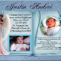 BAPTISMAL INVITE FOR JUSTIN ANDREI